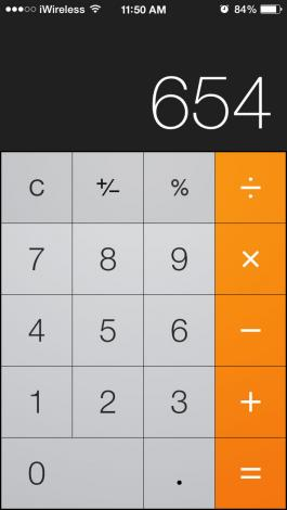 calculator swipe to delete 2