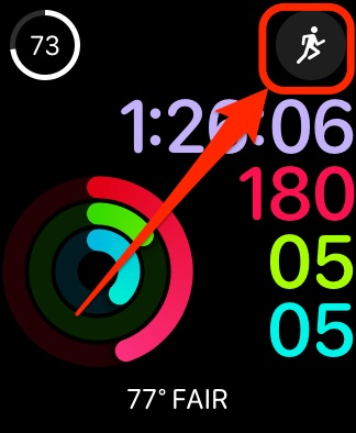 Apple Watch screen indicating that the complication has been changed