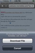 iCab Download file