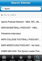 Stitcher: access wide variety of info