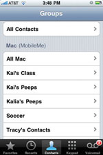 Contacts Groups
