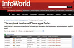 InfoWorld no-junk business iPhone app finder