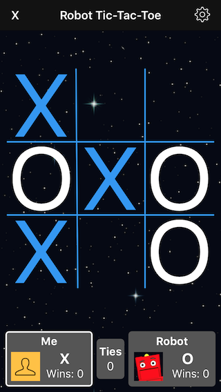 Tic-Tac-Toe main screen