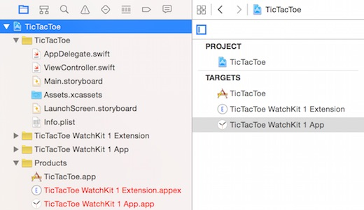 The new watchOS project