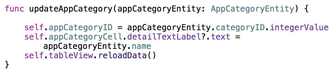 updateAppCategory method