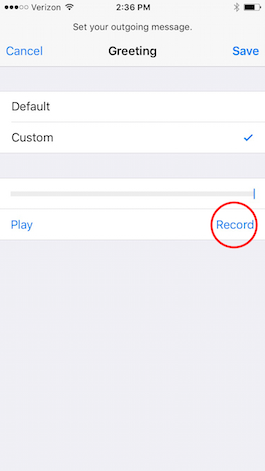 How to record a voicemail message on iphone iphonelife verizon voicemail set up voicemail on iphone m4hsunfo