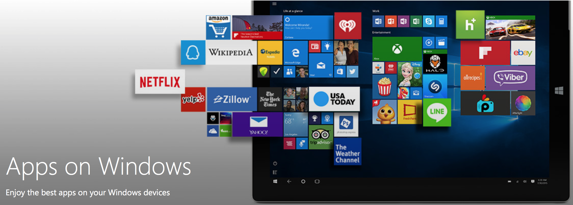 microsoft offers universal app store for pc and mobile