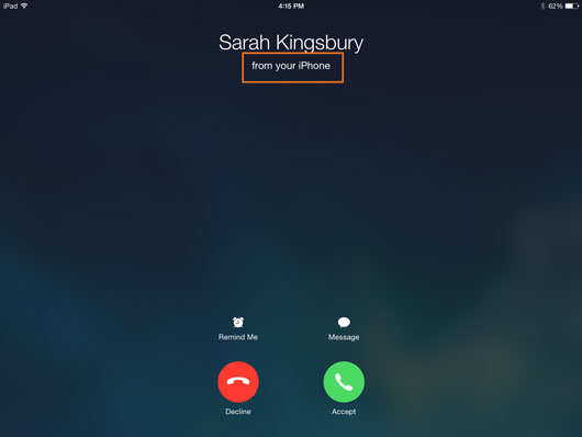 how to answer a call on iphone x