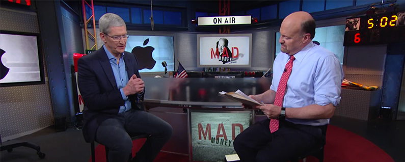 """Tim Cook on Mad Money: """"We're Going to Give You Things That You Can't Live Without"""""""