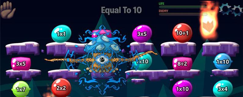 monster math math fact game