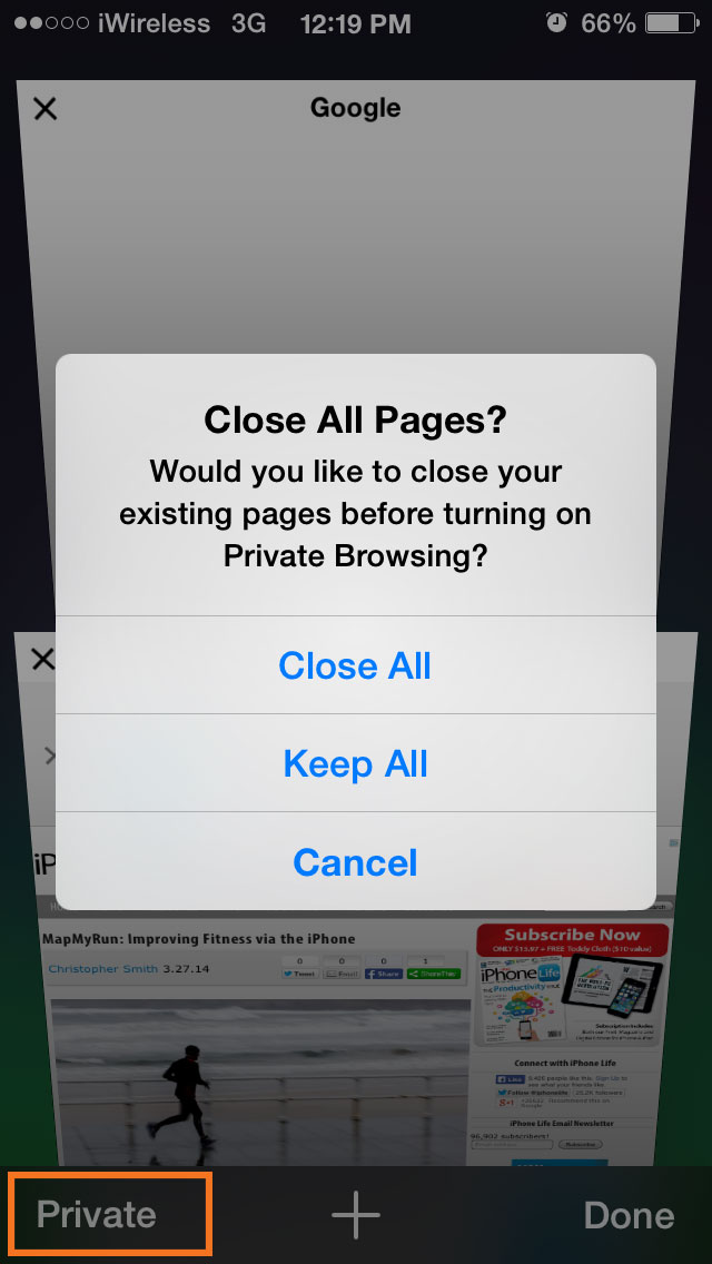 private browsing iphone tip of the day turn on browsing in safari 2285