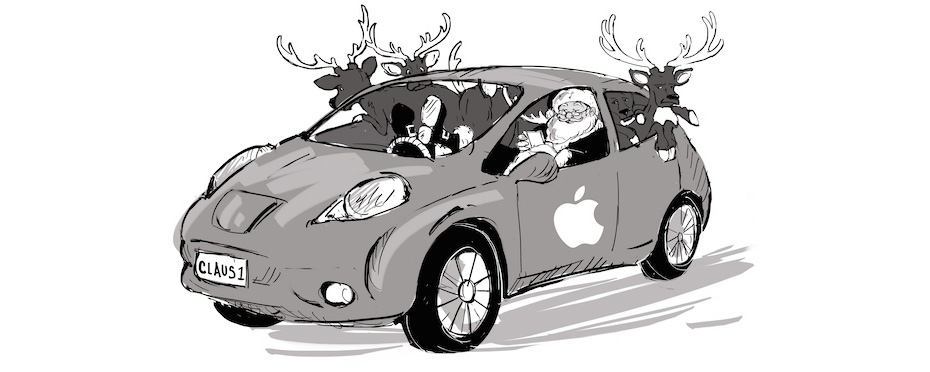 Apple Comic Car