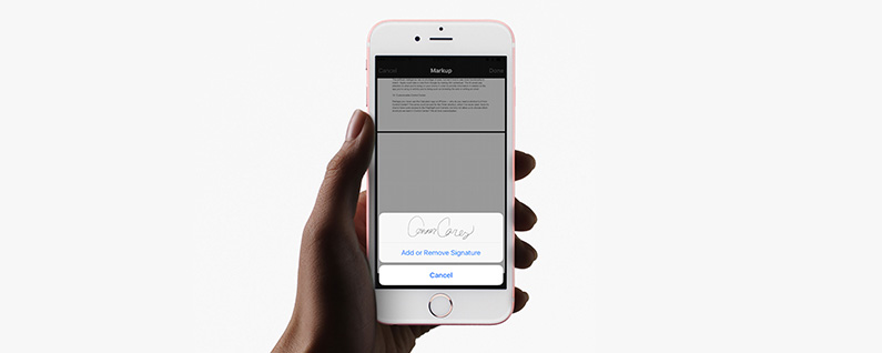 how to sign a pdf document in the iphone mail app