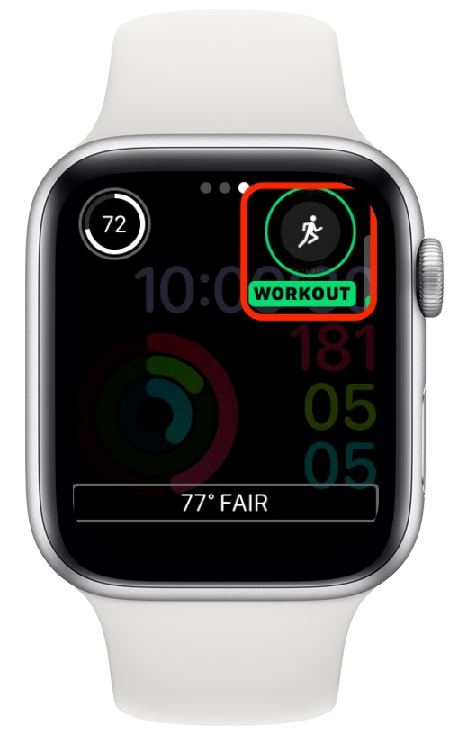 Apple Watch customize screen with the top-right complication highlighted