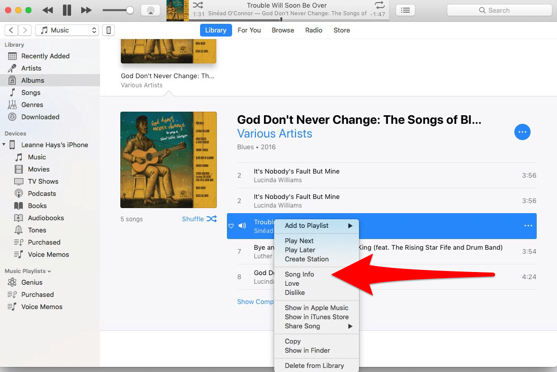 how to download a ringtone from your itunes library