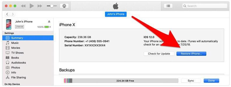 how to reset iphone and ipad with itunes