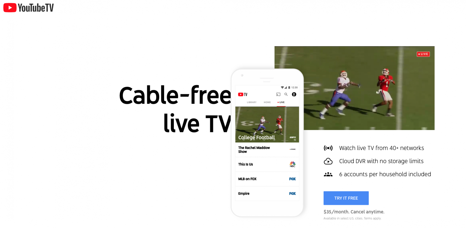 nfl live stream apple tv youtube live