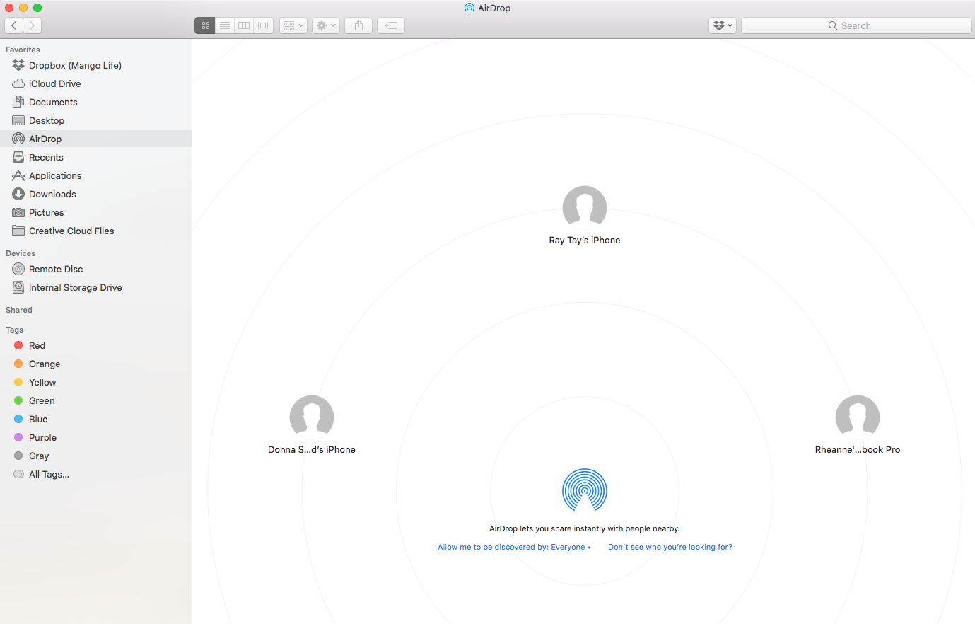 use airdrop from mac