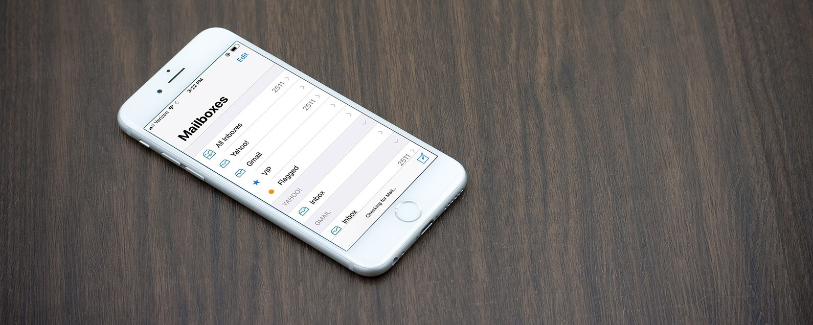 How to empty mailbox on iphone 6s