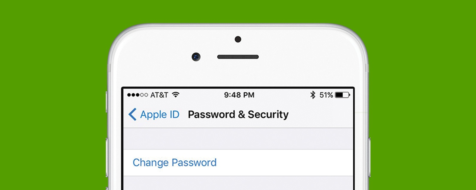 How do i change my apple id password on my iphone 6s