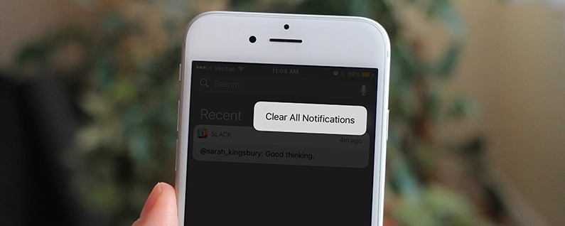 How to Clear All Notifications with 3D Touch
