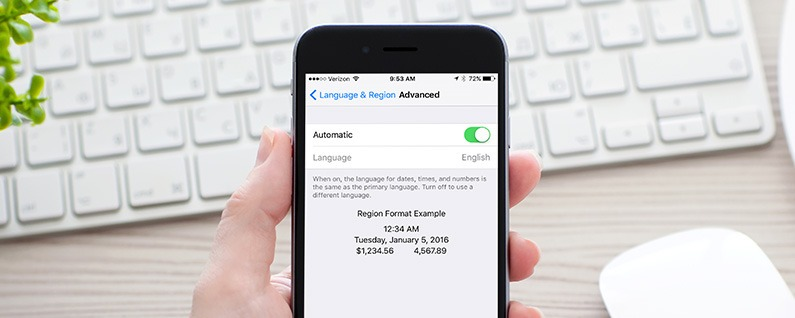 How to Make the Language for Dates, Times, and Numbers Different Than Primary Language on iPhone