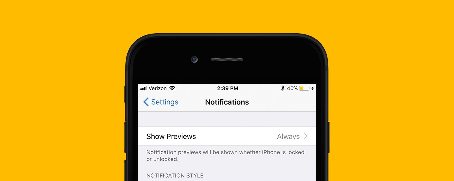 How to Disable Notification Previews for All Apps with iOS 11 on iPhone