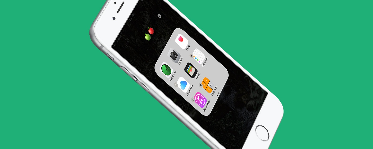 How to hide folders on iphone