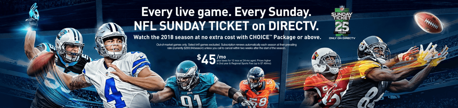 sunday ticket nfl live stream on directv