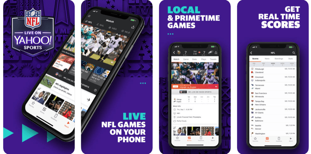 yahoo sports app offers nfl live stream