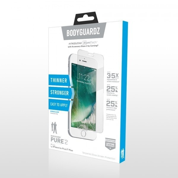 bodyguardz pure 2 tempered glass screen protector