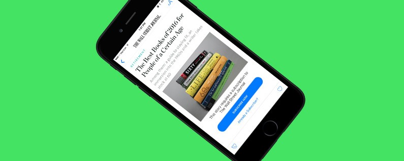How to subscribe to publications in apple news with ios 10 on the starting with ios 10 on the iphone you can subscribe to publications within apple news for example the wall street journal has a premium subscription publicscrutiny Image collections