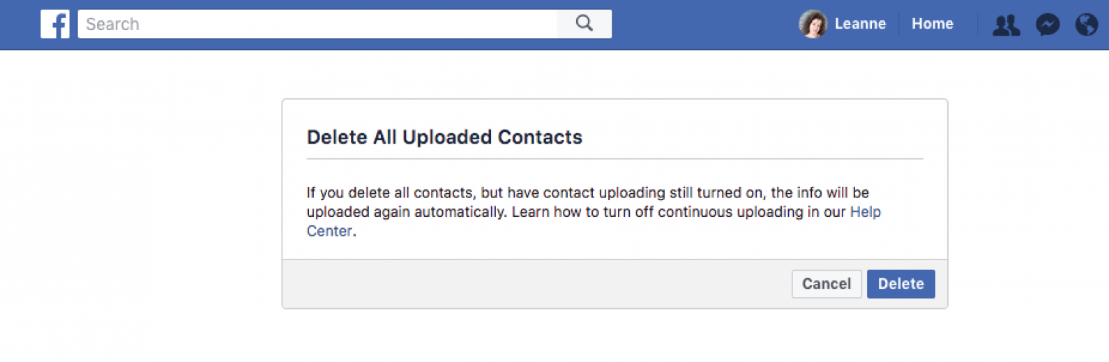 facebook phone contacts