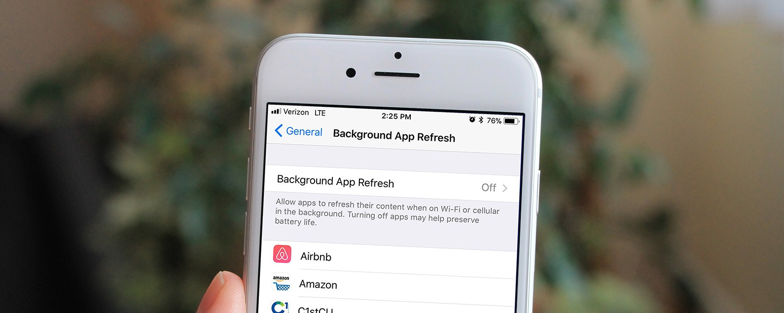 How to Set Background App Refresh to WiFi Only with iOS 11