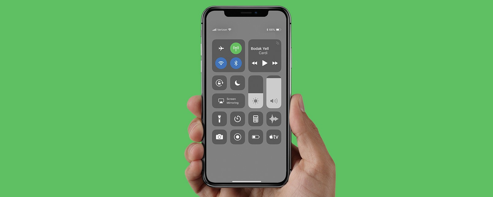 iPhone X: How to View Battery Percentage (Hint: Control Center)