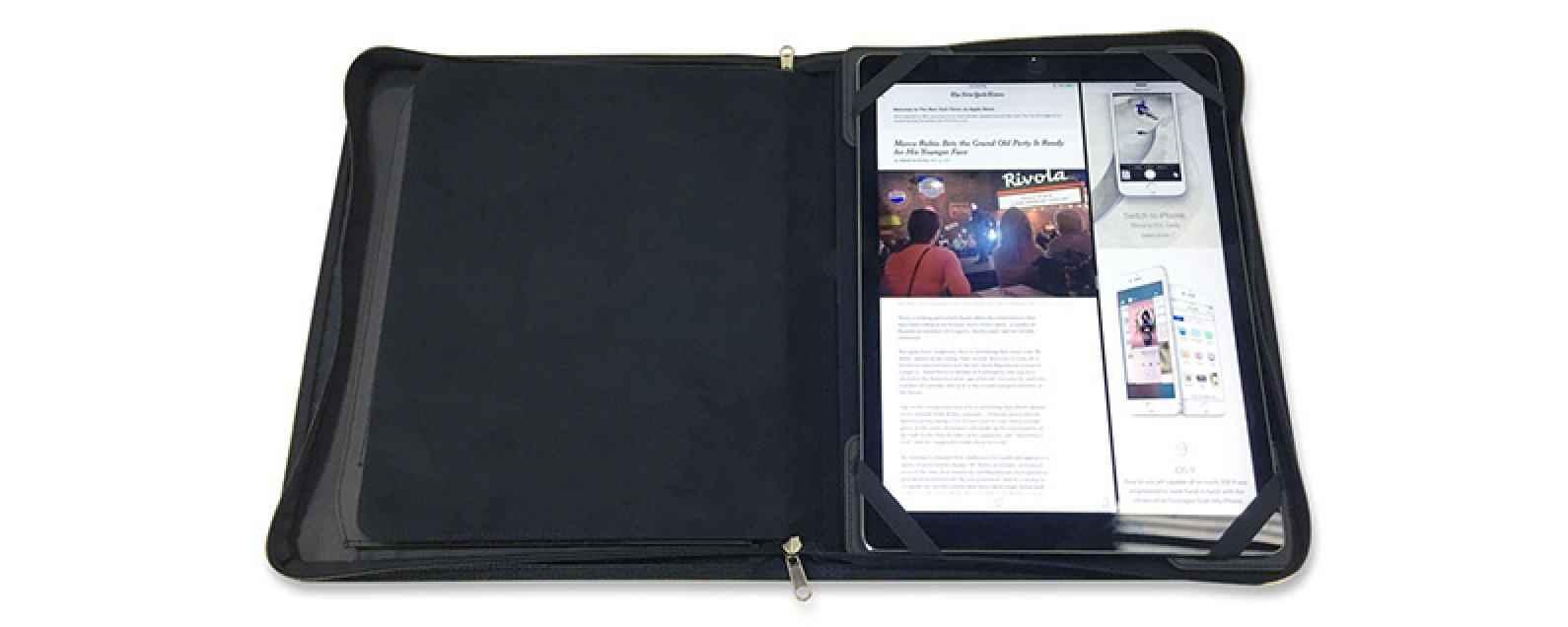 Review: Leather Portfolio Integrates iPad for Business in the Tech Era