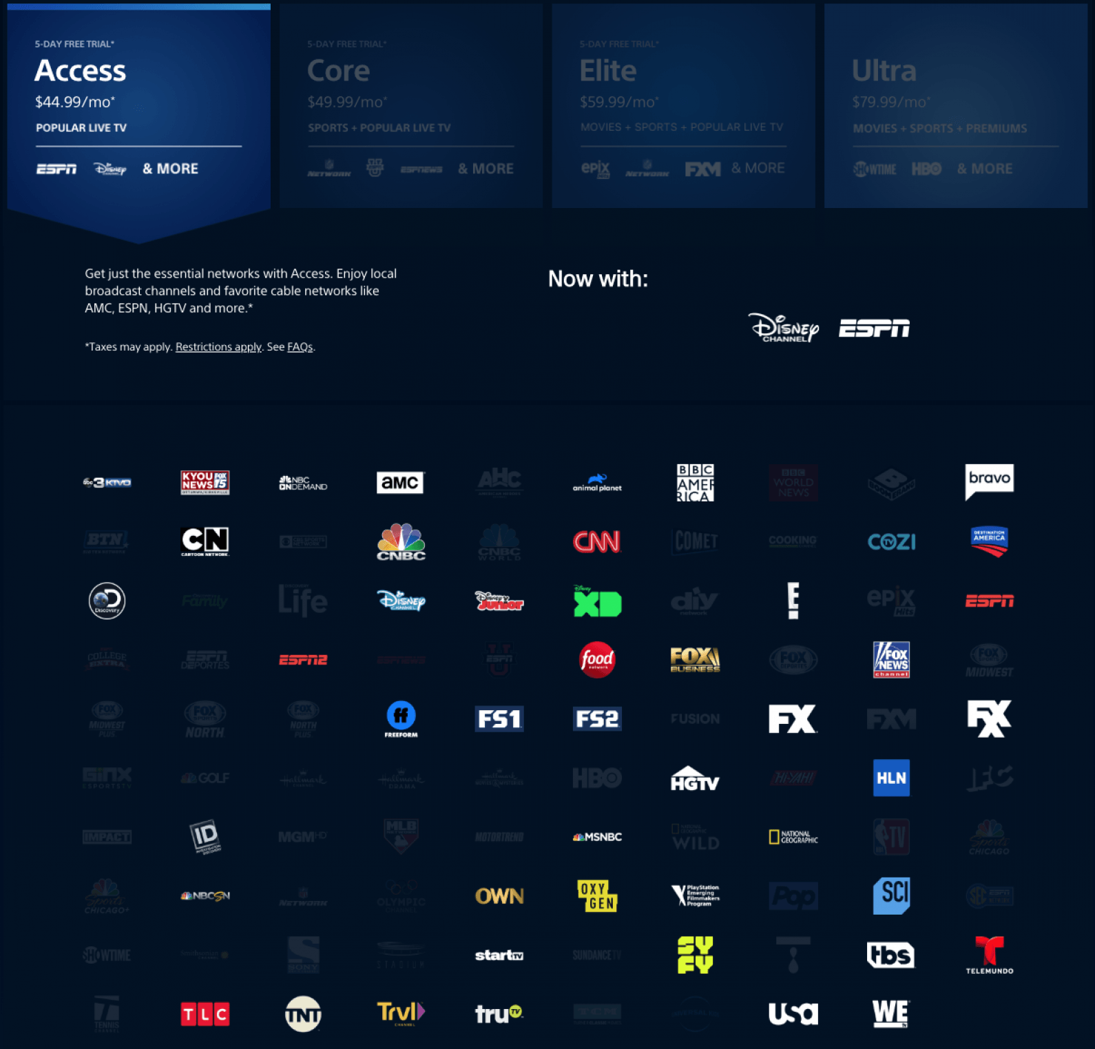 live streaming nfl games with playstation vue