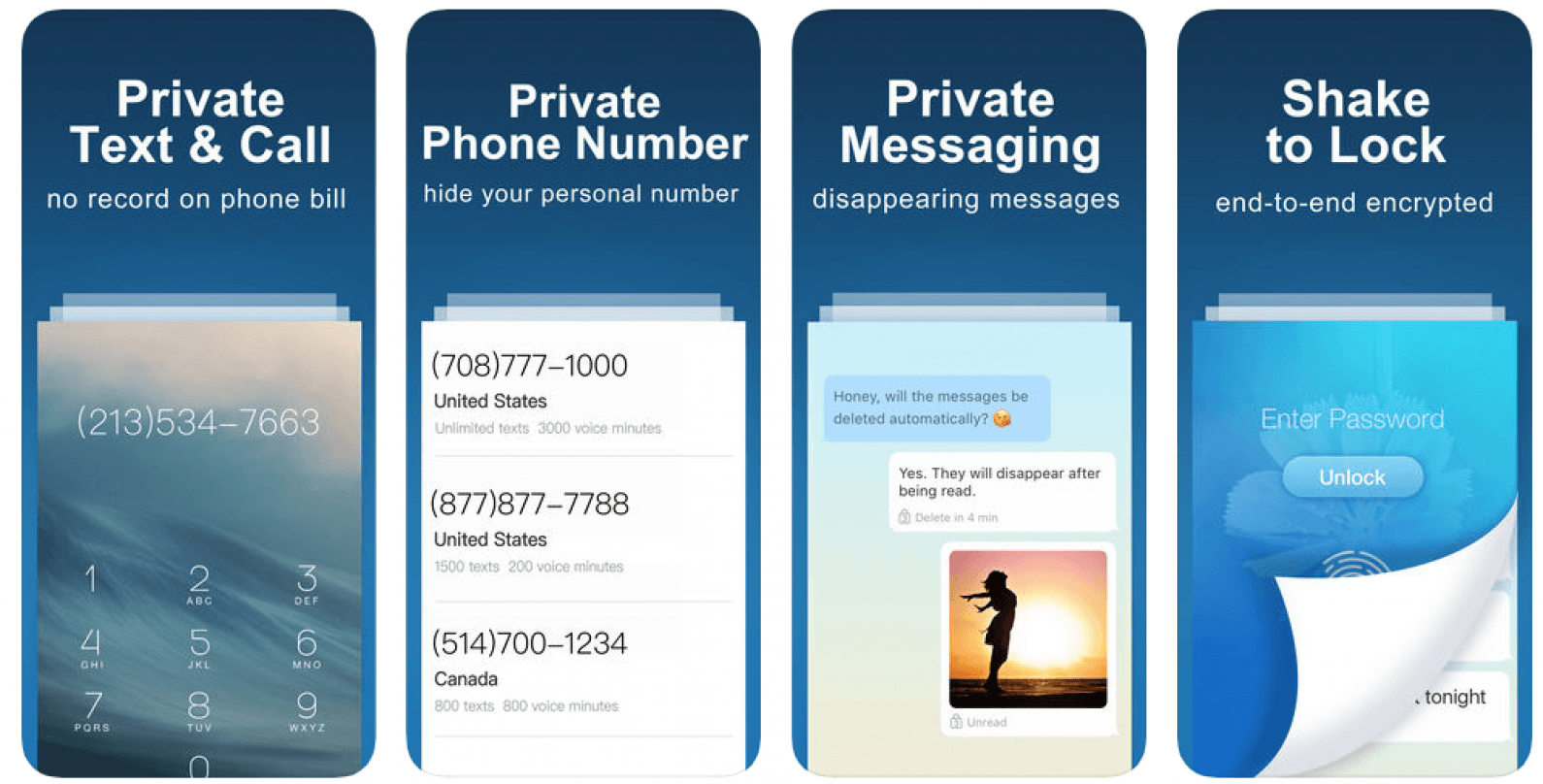 Free to send and receive messages discrete