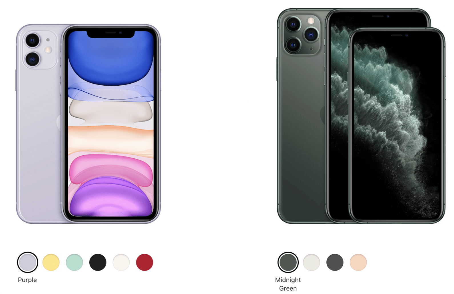 iphones side by side