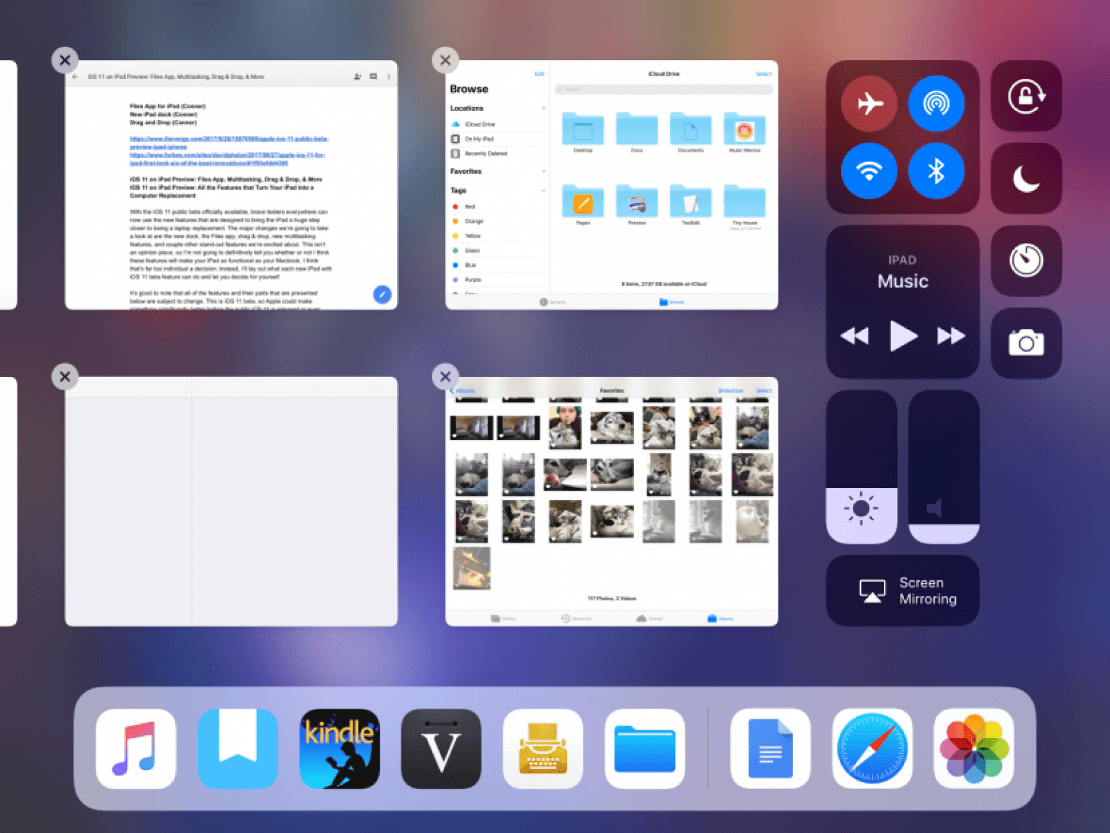 iOS 11 on iPad Preview: Files App, Multitasking, Drag & Drop, and