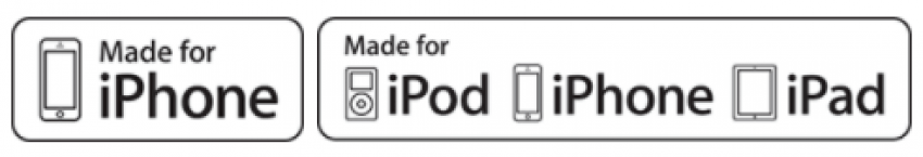Older Made for iPhone charging label