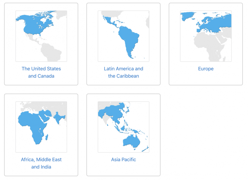 apple support by region