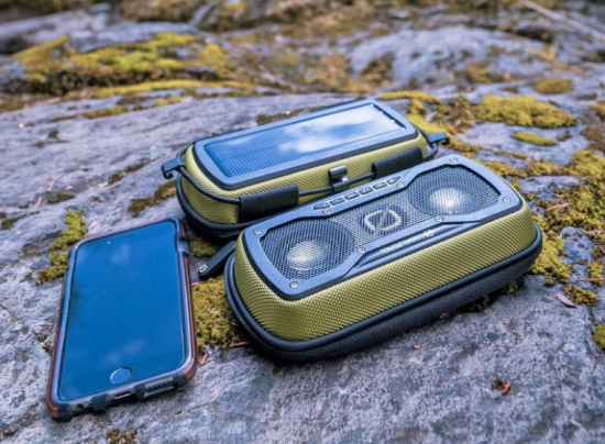 Solar-Powered Rock Out 2 Bluetooth Speaker. for the Adventurous Audiophile