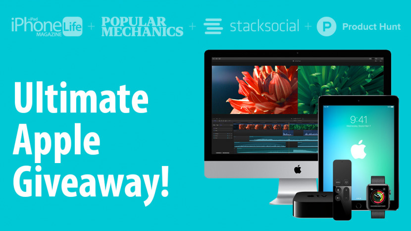 The Ultimate Apple Giveaway: Win an iPad Pro, Apple Watch 2