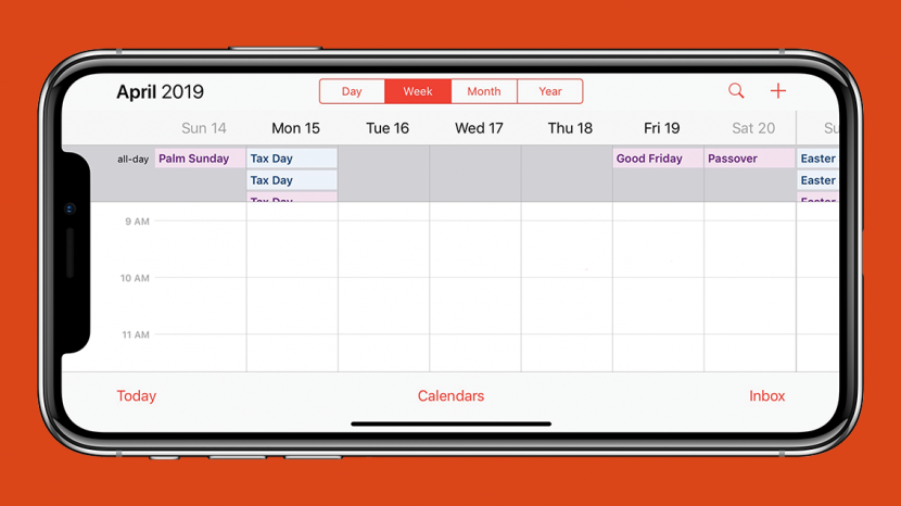4a73157a51e Want to see what any given week has in store for you in your iPhone s  Calendar app  Just turn your iPhone on its side and you ll see your week in  more ...