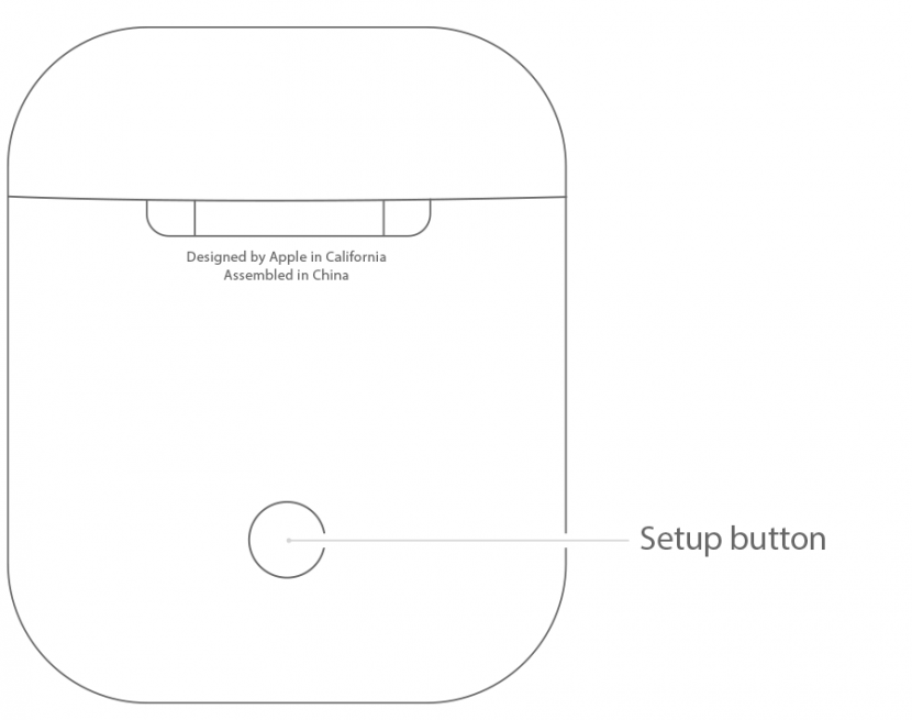 airpods setup button
