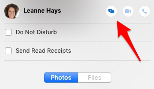 use imessage to screen share on mac