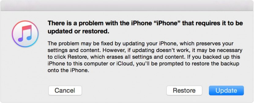 backing up iphone to computer error