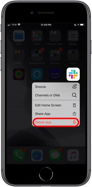 كيفية إخفاء التطبيقات على آيفون 6