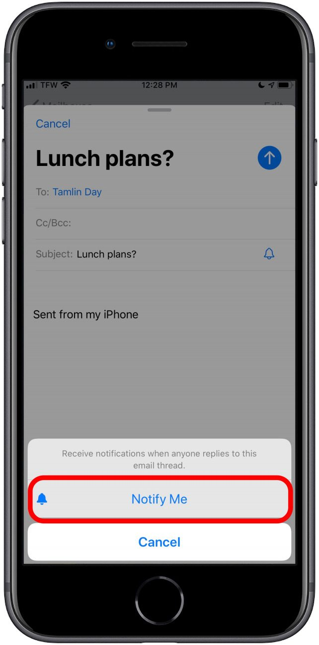 How to Enable Notifications for an Email Thread Using the Mail App